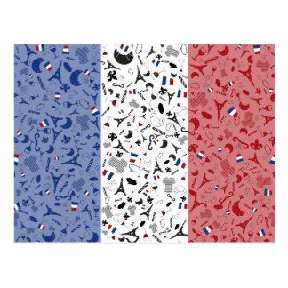 Viva La Frankreich Postkarte