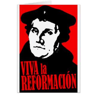 Viva La Reformacion LUTHER Grußkarte
