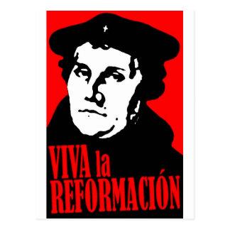 Viva La Reformacion LUTHER Postkarte