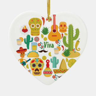 viva Mexiko Keramik Ornament
