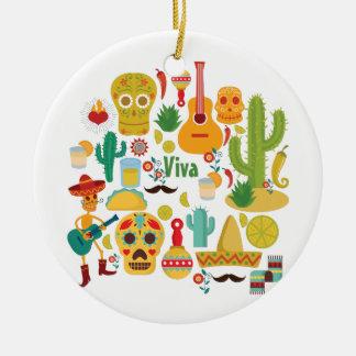 viva Mexiko Keramik Ornament