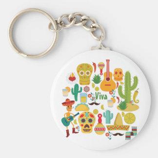 viva Mexiko Schlüsselanhänger