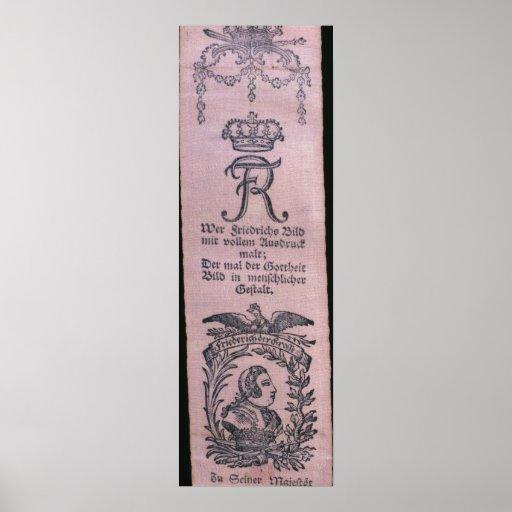 Vivat Bänder von Frederick II Plakatdruck
