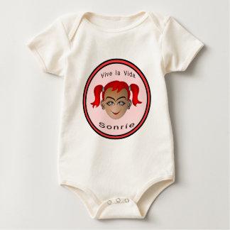 Vive La vida Sonrie Niña Baby Strampler