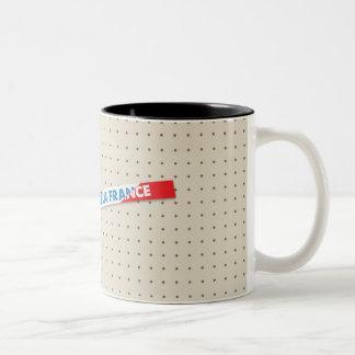 vive Lafrankreich-Tasse (lebt lang Frankreich) Zweifarbige Tasse