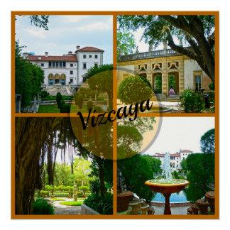 Vizcaya-Museum und botanischer Garten Miami Poster