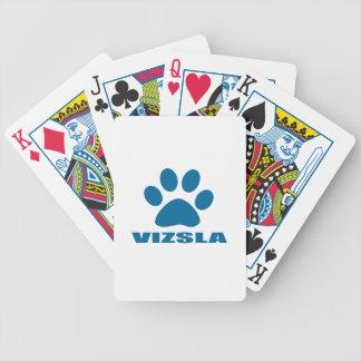 VIZSLA HUNDEentwürfe Bicycle Spielkarten