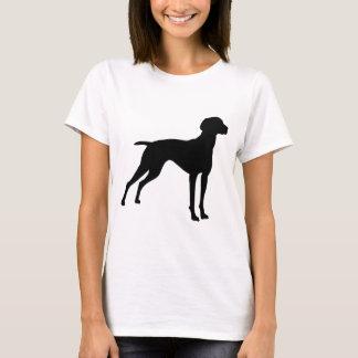 Vizsla HundeSilhouette (Schwarzes) T-Shirt