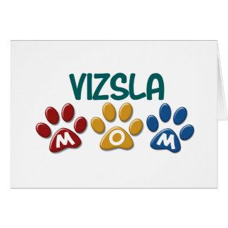 VIZSLA Mamma-Tatzen-Druck 1 Grußkarten