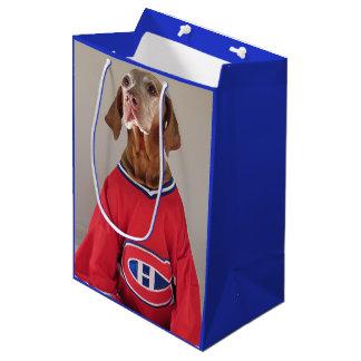 Vizsla Montreal Kanadier-Hockey-Geschenk-Tasche Mittlere Geschenktüte