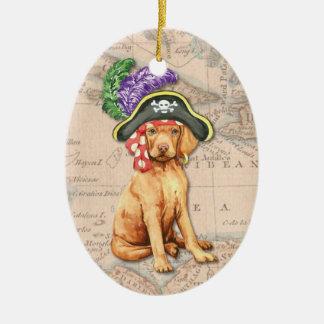 Vizsla Pirat Keramik Ornament