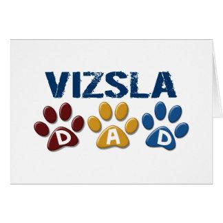 VIZSLA Vati-Tatzen-Druck 1 Grußkarten