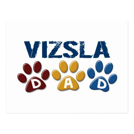 VIZSLA Vati-Tatzen-Druck 1 Postkarte