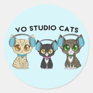 Vl-Studio-Katzen-klassischer runder Aufkleber