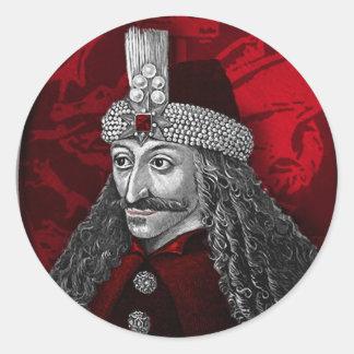 Vlad Dracula gotisch Runder Aufkleber