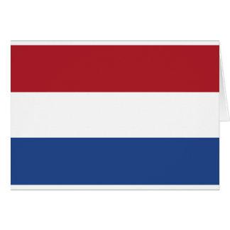 Vlag Packwagen Nederland - Flagge der Niederlande Grußkarte