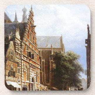 Vleeschhal und Grote Kerk in Haarlem durch Getränke Untersetzer
