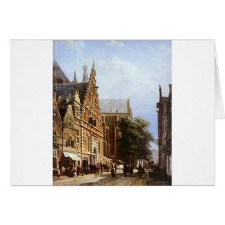 Vleeschhal und Grote Kerk in Haarlem durch Grußkarte
