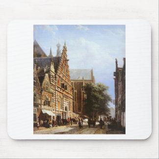 Vleeschhal und Grote Kerk in Haarlem durch Mousepad