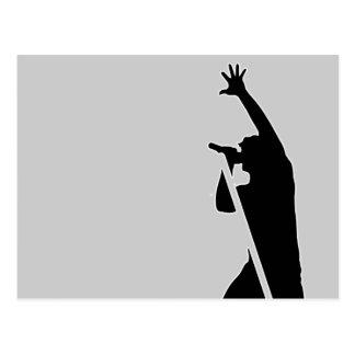 Vocalist-Silhouette Postkarte