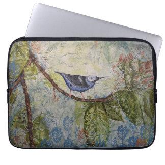Vogel-Aquarell-Kunst-Laptop-Hülse Laptopschutzhülle