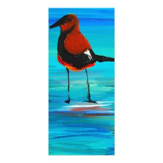Vögel auf der Kunst der Lagune-(Acryl) K.Turnbull Werbekarte