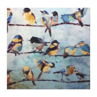 Vögel auf Draht-Leinwand-Druck Gespannte Galerie Drucke