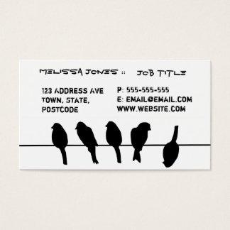 Vögel auf einem Draht - trauen Sie sich, Visitenkarte
