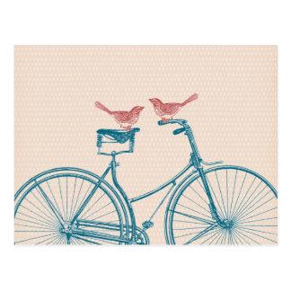 Vögel auf einem Fahrrad Postkarten