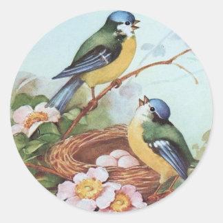 Vögel auf einem Nest - Aufkleber