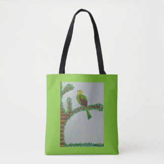 Vogel auf einer Niederlassung Tasche