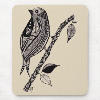 Vogel auf einer Niederlassungs-Mausunterlage Mousepad