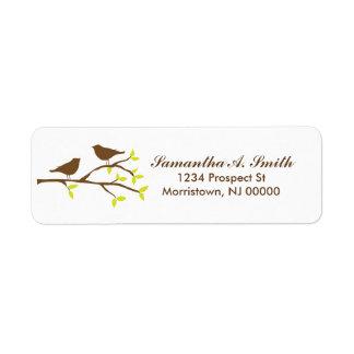 Vögel auf Niederlassungs-Rücksendeadressen-Aufkleb