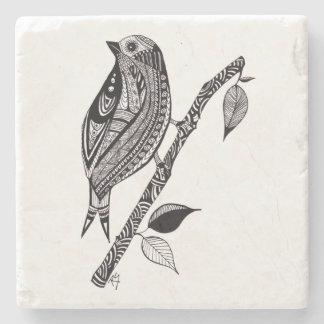 Vogel auf Niederlassungs-Stein-Untersetzer Steinuntersetzer