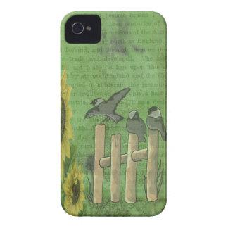 Vögel auf Zaun iPhone 4 Cover