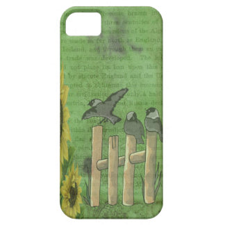 Vögel auf Zaun iPhone 5 Schutzhülle