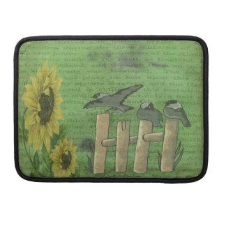 Vögel auf Zaun Sleeve Für MacBook Pro