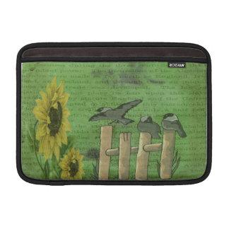 Vögel auf Zaun Sleeve Fürs MacBook Air