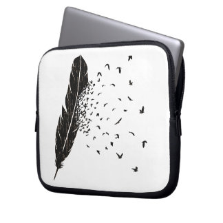 Vogel-Ausbrechen einer Feder Laptop Schutzhülle