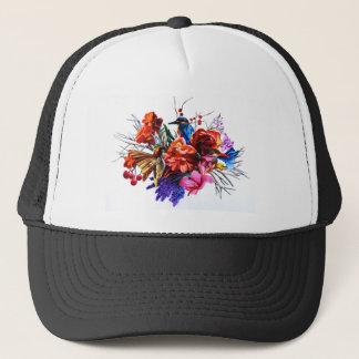 Vogel-Blumenstrauß Truckerkappe