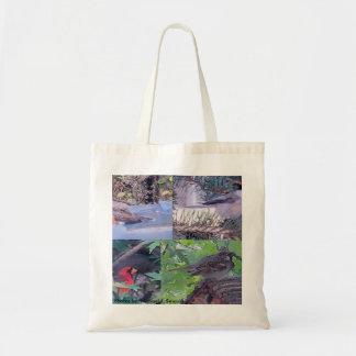 Vogel-Collage Einkaufstaschen