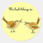 Vögel DE dieses Buch gehört: Aufkleber