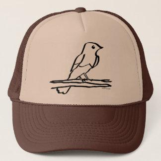 Vogel, der Kappe mit Tinte schwärzt