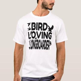Vogel, der Longboarder liebt T-Shirt