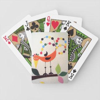 vogel die Farben Pokerkarten