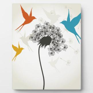 Vögel ein flower3 fotoplatte