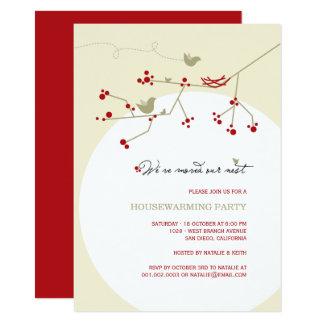 Vogel-Familien-laden neues Nesthousewarming-Party 11,4 X 15,9 Cm Einladungskarte