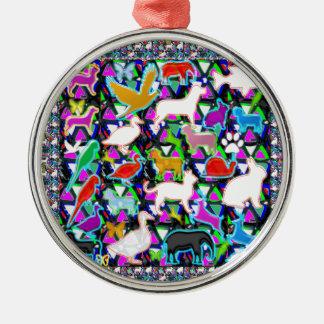 Vogel-Fisch-Tier-Haustier-Zoo scherzt Kinder+Raum Silbernes Ornament