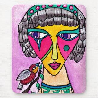 Vogel-Frauen-Mausunterlage Mousepads