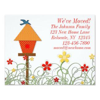 Vogel-Haus-bewegliche Mitteilung 10,8 X 14 Cm Einladungskarte